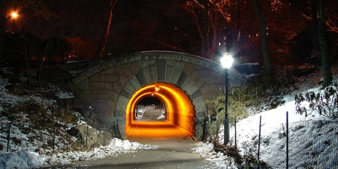 Light at the End of the Tunnel, Central Park, New York