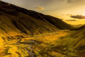 Light Blankets the Valley, Scotland, United Kingdom
