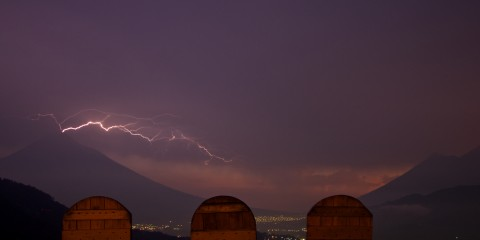 Lightning Over Antigua, Guatemala