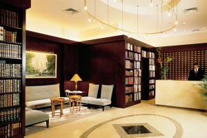Lobby of Library Hotel in New York City (NYC)
