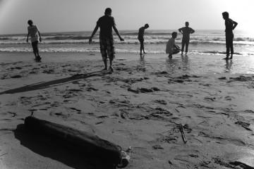 Beach Scene, Chennai, India