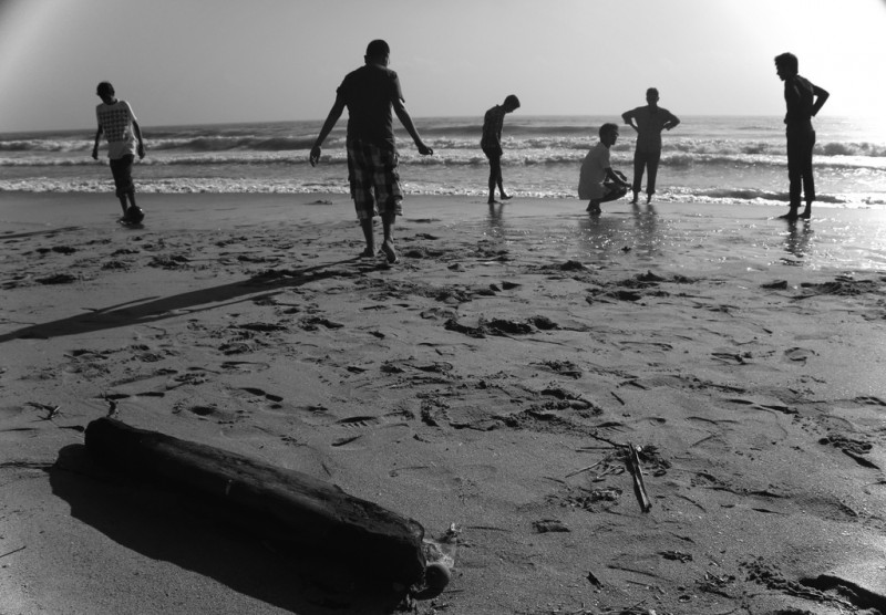 Beach Scene, Chennai, India
