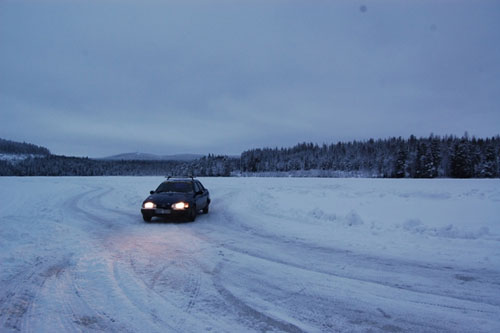 Prepping for the Ice Race, Lappland