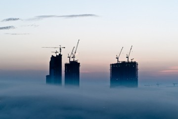 Lost in Fog Atop Dubai