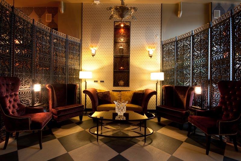 Lounge at The Giacomo Hotel in Niagara Falls, New York
