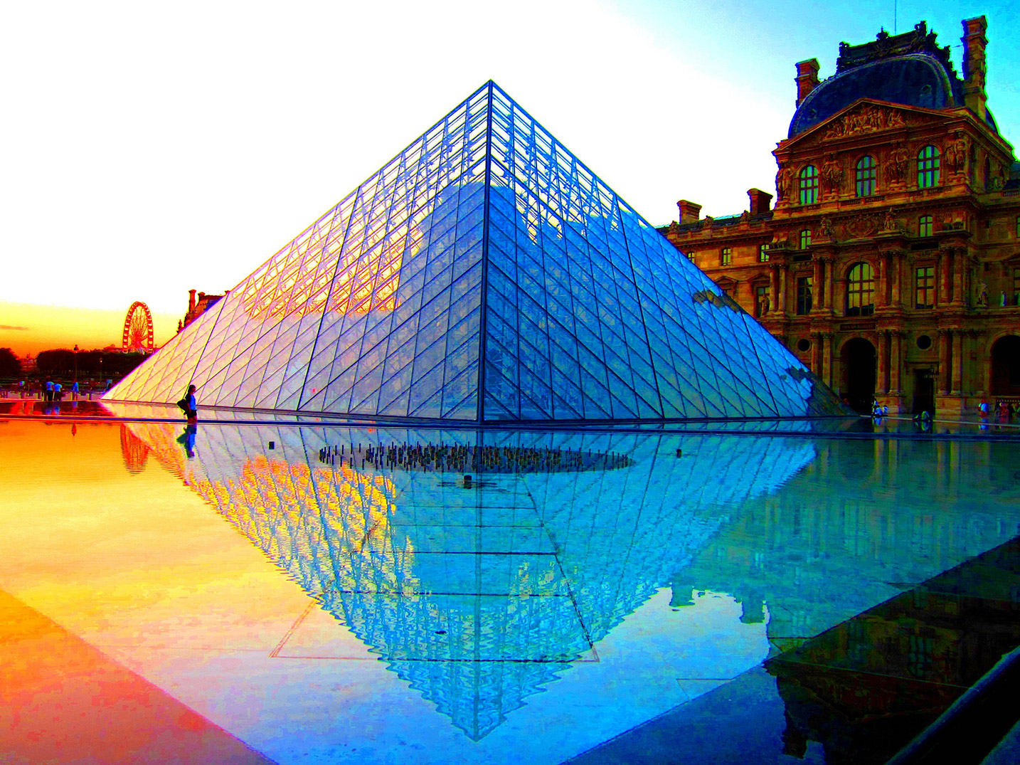 Sunset over the Louvre, Paris