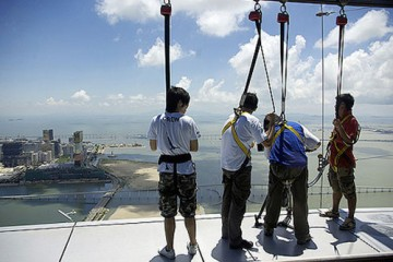 Bungee Jumping from the Macau Tower