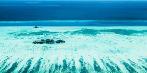 Aerial shot of Maldives