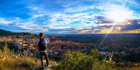 Man overlooking Tivoli, Italy