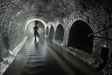 Man in London Sewer