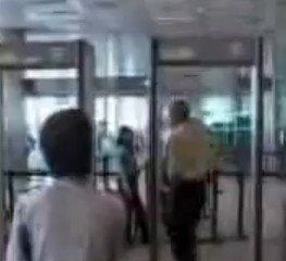 Man Sneaking Through Airport Security (video still)