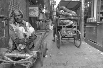 A Man And His Wagon - Delhi, India