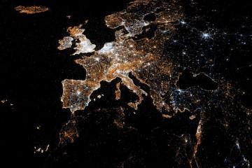 Map of Social Media (Tweets/Facebook), Europe