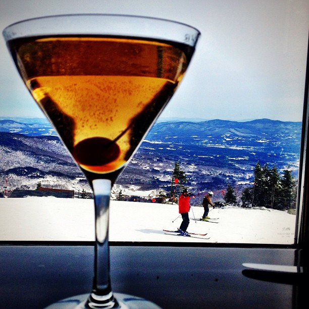 Mapletini at The Cliff House, Mount Mansfield, Vermont