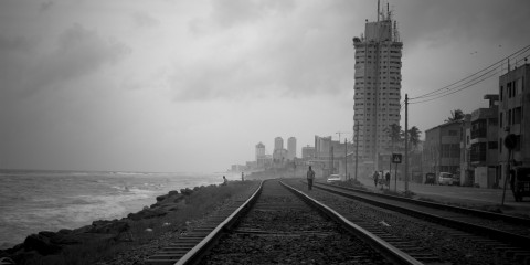 Marine Drive in Colombo, Sri Lanka
