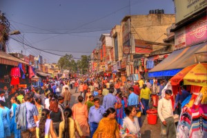 Bustling Marketplace, Delhi