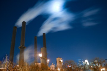 Midnight at the Steam Plant, Minneapolis, Minnesota