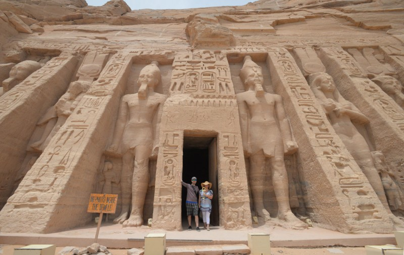 Holding the Key of Life at Egypt's Abu Simbel