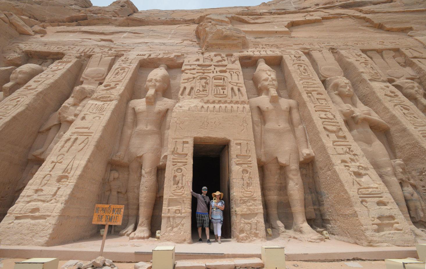Holding the Key of Life at Egypt's Abu Simbel