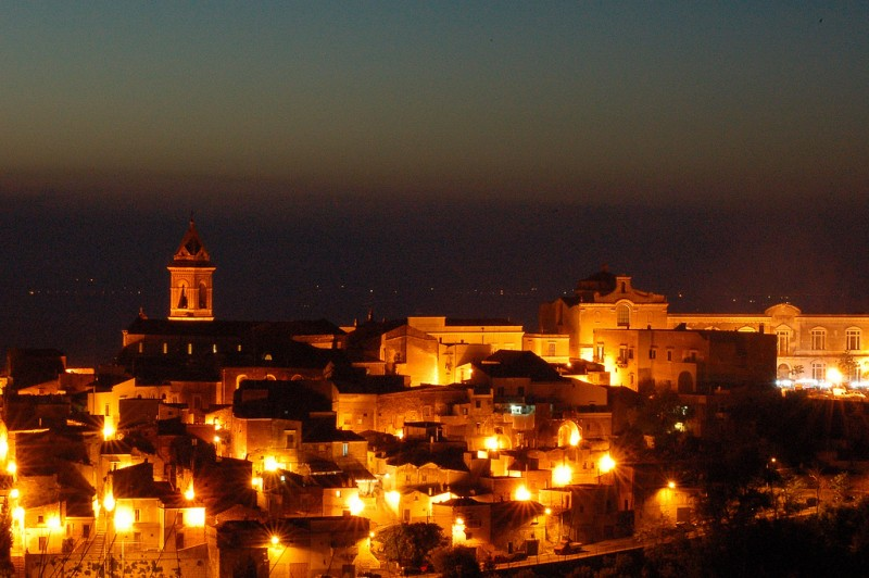 Night in Minervino, Puglia, Italy