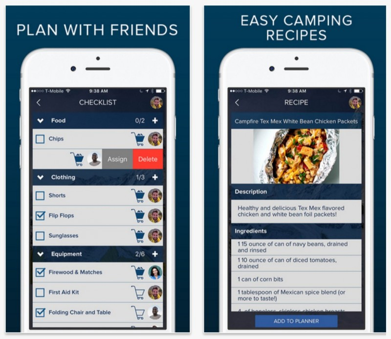 Moonlight Camping Mobile App (iOS)