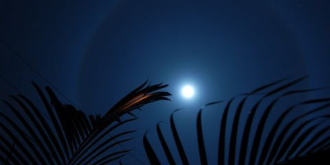 Moon's Halo in Heredia, Costa Rica