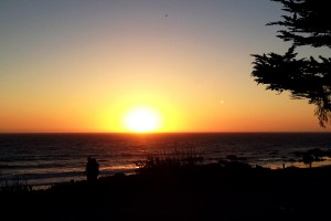Sunset on Moonstone Beach along California's Central Coast