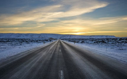 Morning Sun on the Open Road, Iceland