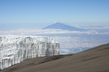 Mt, Meru from the Peak Area of Mt Kilimanjaro