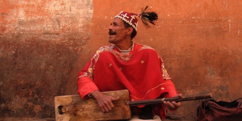 The Music Man from Marrakech, Morocco