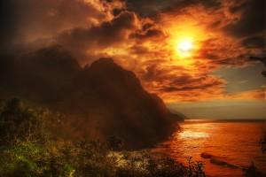 Napali coast from Kalalu Trail, Kauai, Hawaii