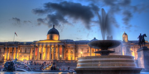 The National Gallery on Trafalgar Square, London