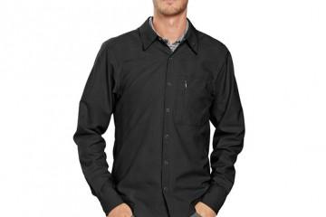 Nau Lightbeam Men's Travel Shirt (Caviar Stripe)