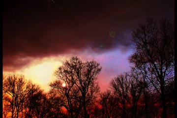 Neon Sky in Bowling Green, Kentucky