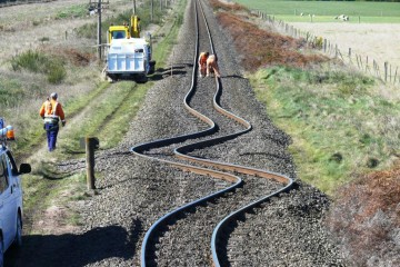 New Zealand Earthquake Twisted Railroad Tracks