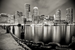 Boston Harbor at Night, Massachusetts