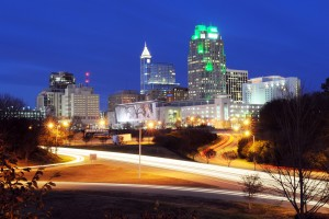 Night in Downtown Raleigh, North Carolina