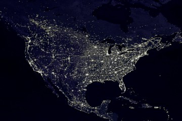 The Night Lights of the United States (from Space)