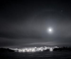 Nighttime in Yellowknife, Canada