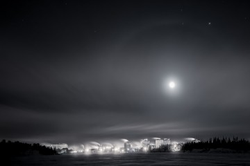 Nighttime in Yellowknife, Canada