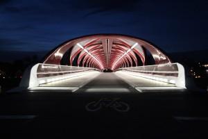 Nighttime at Peace Bridge, Calgary, Canada