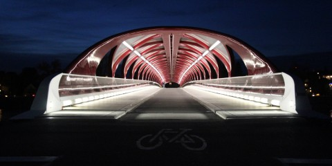 Nighttime at Peace Bridge, Calgary, Canada
