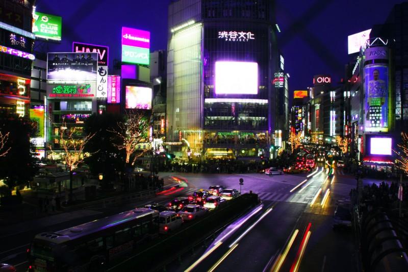 Night in Shibuya, Tokyo, Japan