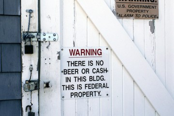 No Beer, No Cash Sign, New Jersey