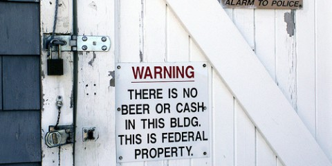 No Beer, No Cash Sign, New Jersey