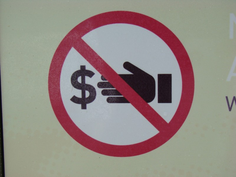 No Money (sign)
