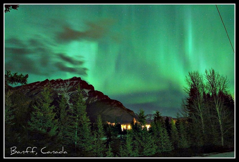 Northern Lights (Aurora Borealis), Banff, Canada