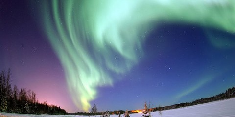 Northern Lights seen from Eielson Air Force Base in Alaska