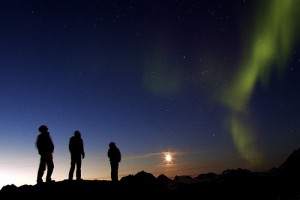 Watching the Northern Lights, Greenland