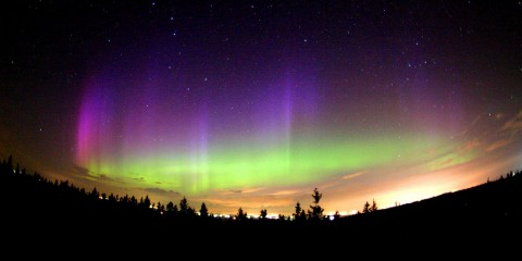 Northern Lights (Aurora Borealis) Seen from Quebec, Canada